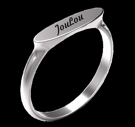 טבעת חריטה קלאסית